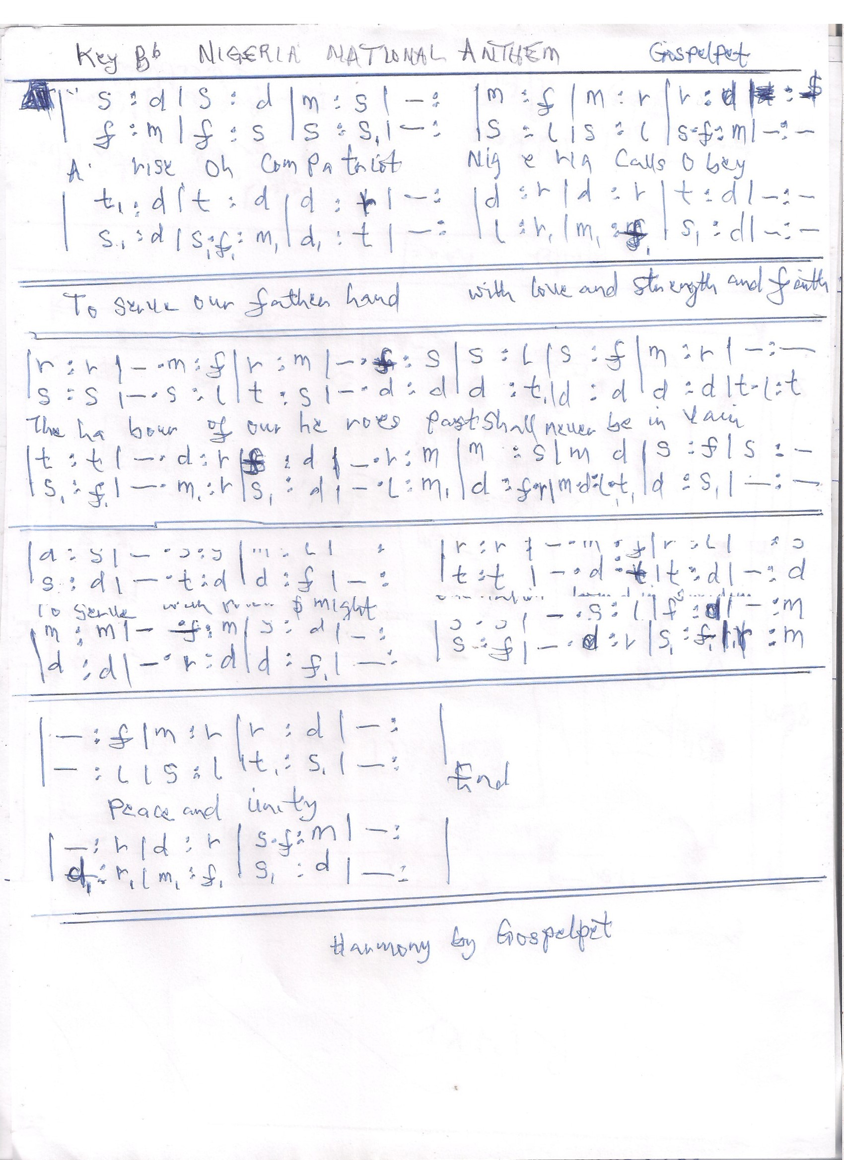 Nigeria national anthem in treble alto tenor and bass learn the national anthem in treble alto tenor and bass for choir or quartet presentations hexwebz Choice Image
